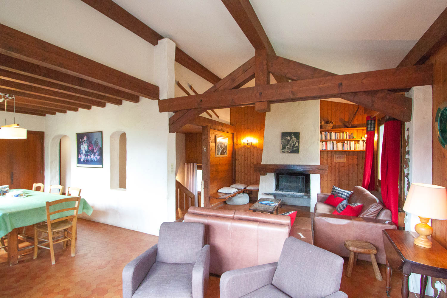 Living area of chalet for sale in Chamonix Les Pècles