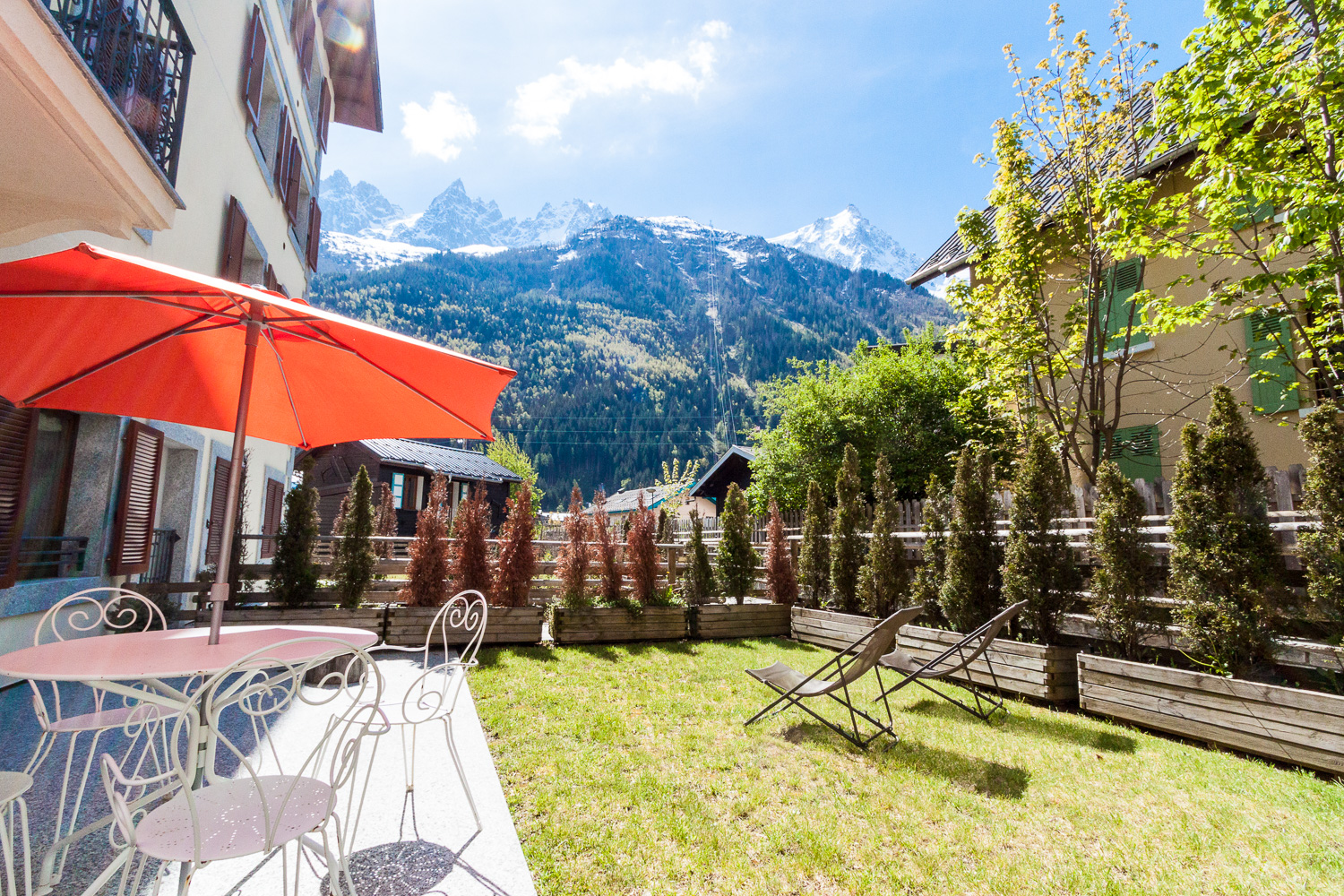 Apartment with garden in Chamonix town centre