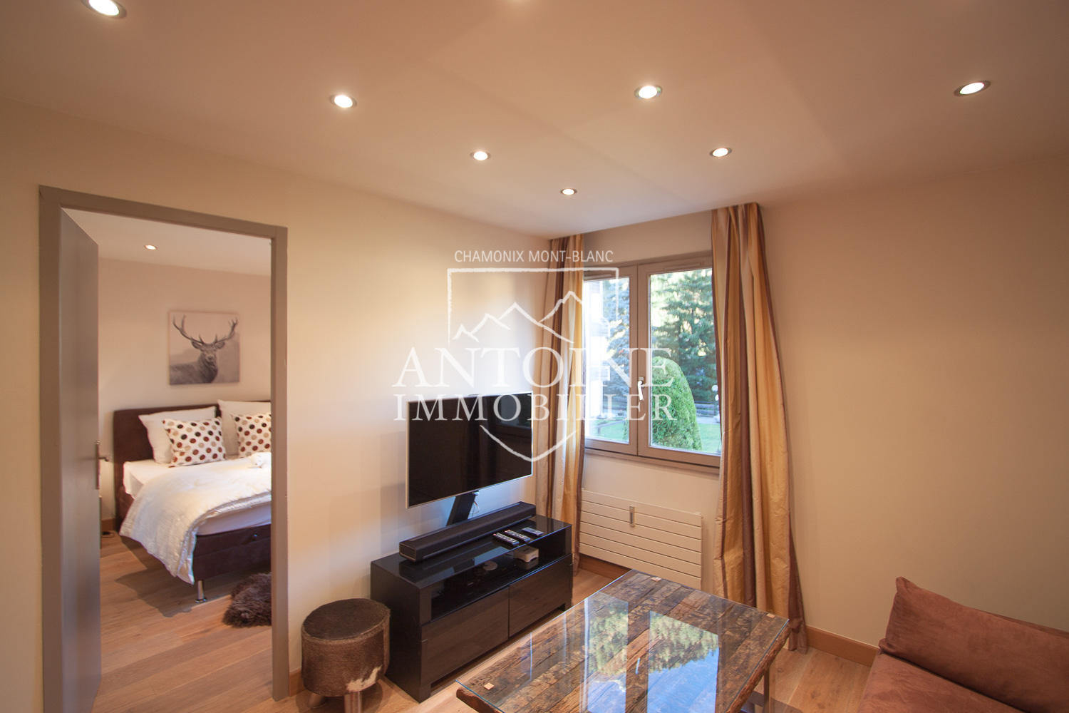 Living room apartment for sale Chamonix