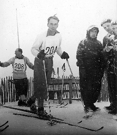 Lionel Terray in a ski competition