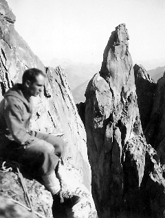 Lionel Terray in the Mont Blanc range